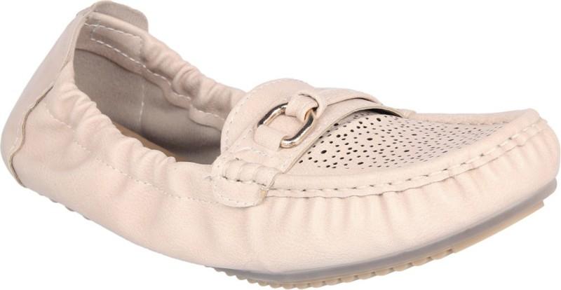 Flat n Heels Loafers For Women(Beige)