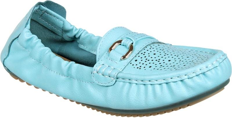 Flat n Heels Loafers For Women(Blue)