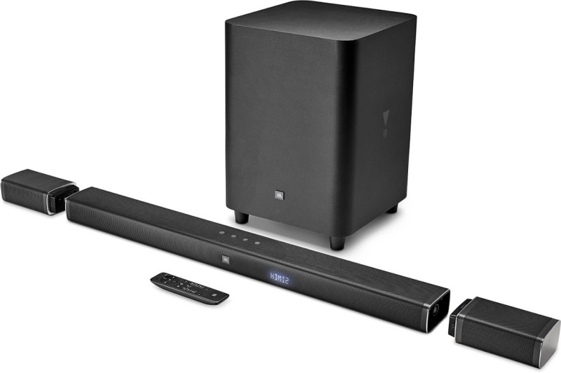 JBL Bar 5.1 Channel 510W 4K Ultra HD Sound bar with Wireless Surround Speakers(Black, 5.1 Channel)