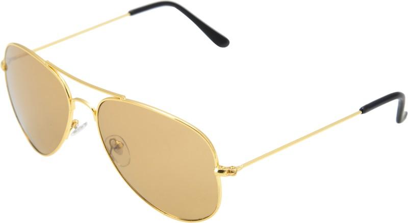 JINNY FASHION Aviator Sunglasses(Yellow) image