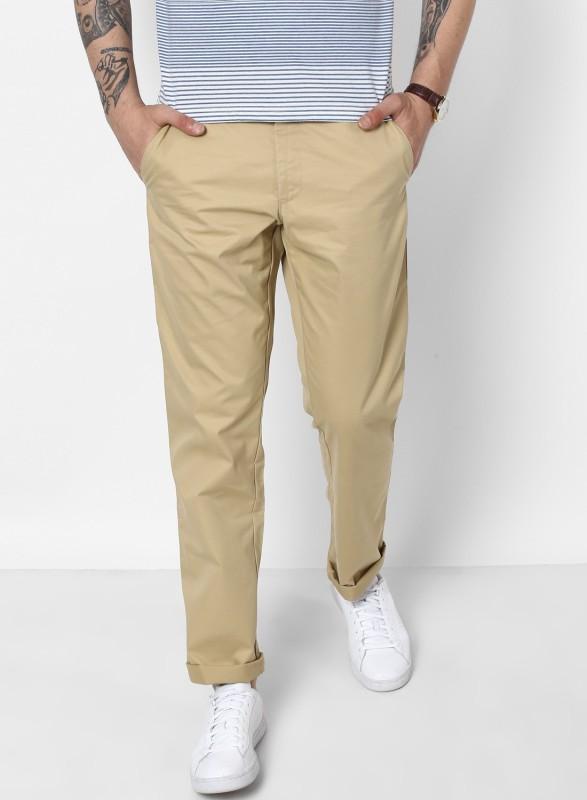 Monte Carlo Regular Fit Men Brown Trousers