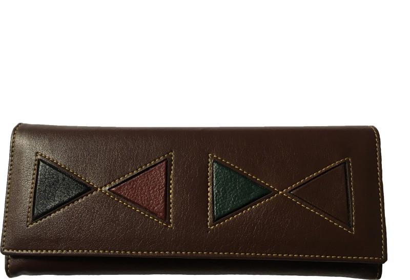aamira Women Brown Genuine Leather Wallet(5 Card Slots)