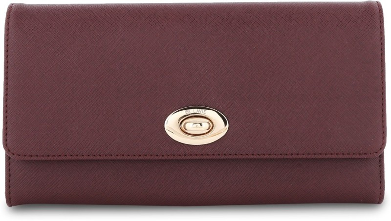 Lavie Women Casual Brown Artificial Leather Wallet(19 Card Slots)