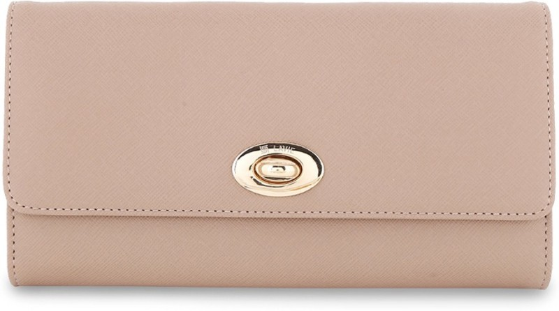 Lavie Women Casual Beige Artificial Leather Wallet(19 Card Slots)