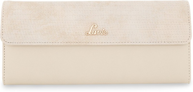 Lavie Women Formal Beige Artificial Leather Wallet(10 Card Slots)