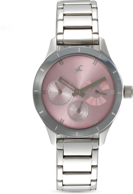 Fastrack 6078SM07 Monochrome Analog Watch - For Women