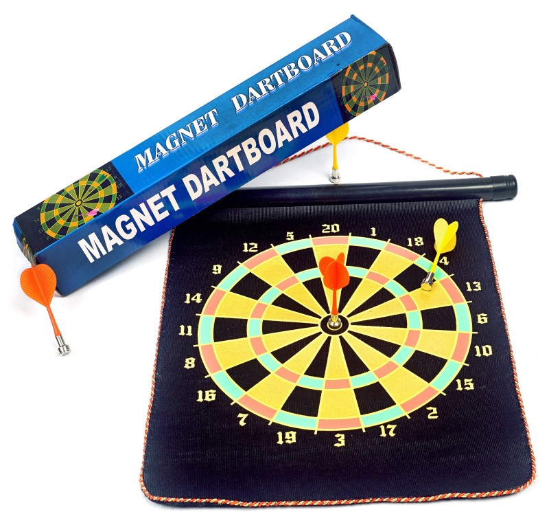 Acorn® Acorn Magnetic Dart Board - Imported (Top Quality) 10 cm Dart Board(Multicolor)