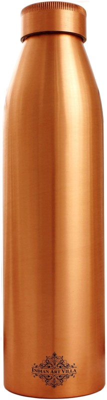 IndianArtVilla Seamless Doctor Copper Bottle 1000 ml Bottle(Pack of 1, Brown)