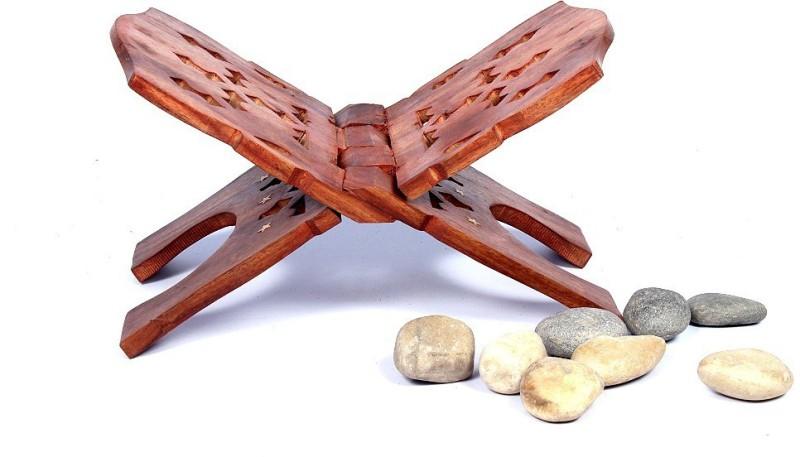 Phirkcraft Wooden Rehal Stand, Wooden Brown Book Rest(Width (Open) = 12 : Height (Open) = 12)