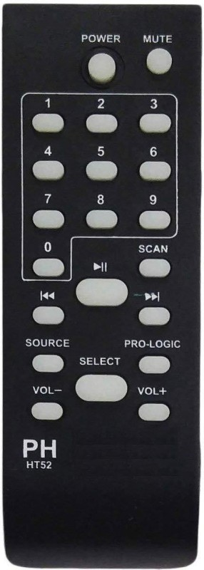 LipiWorld PH-HT52 Home Theater System Universal Remote Compatible with Philips Home Theater Remote Controller(Black)