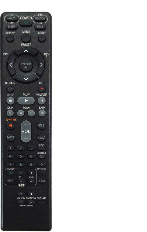 LipiWorld AKB37026802 DVD Universal Remote Compatible with Lg DVD Home Theater System Remote Controller(Black)