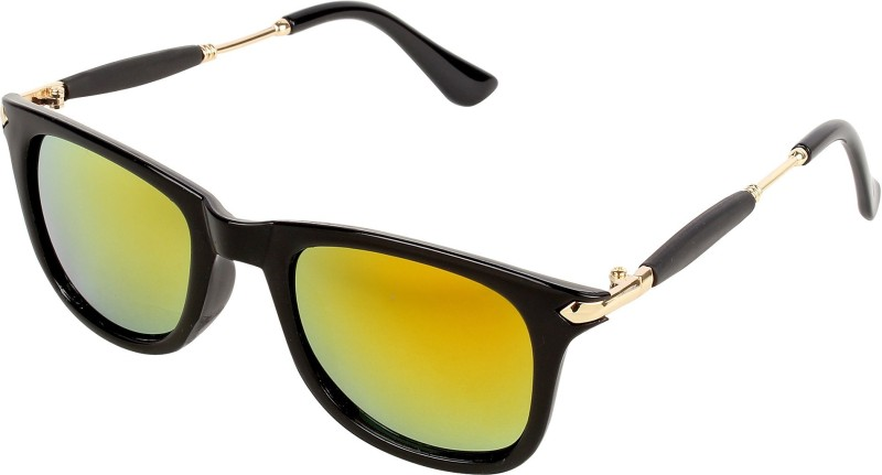 Pogo Fashion Club Wayfarer Sunglasses(Golden, Multicolor) image