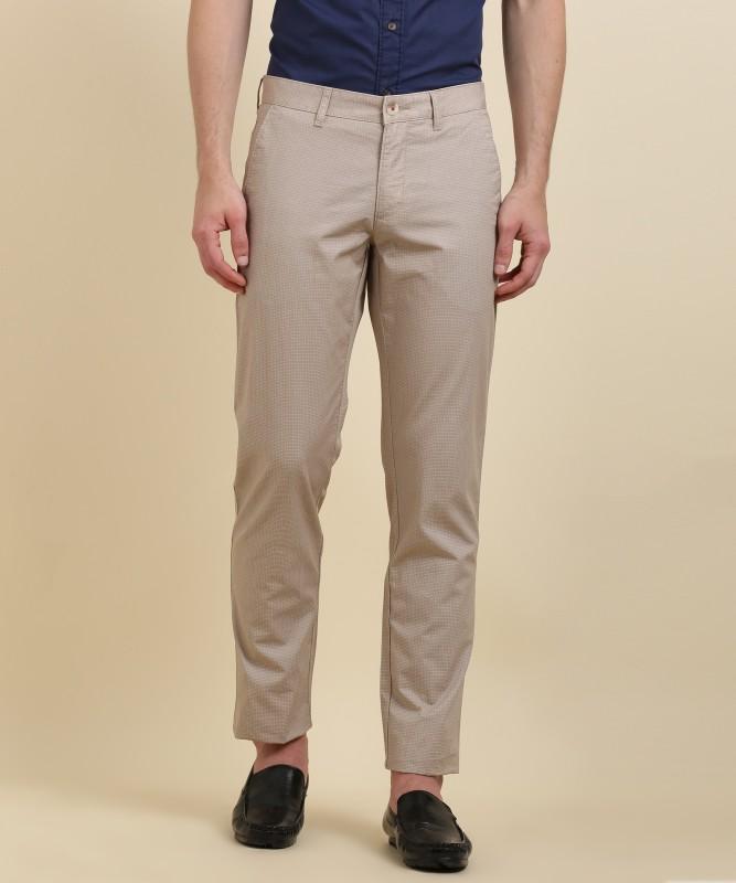 LP Louis Philippe CLAUBERT Slim Fit Mens Beige Trousers