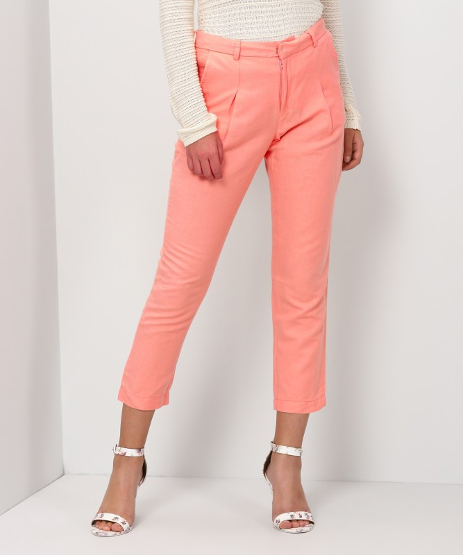 Pepe Jeans Regular Fit Women's Orange Trousers