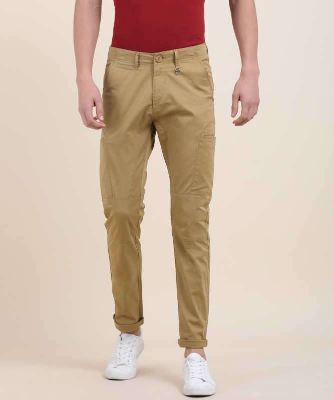 Spykar Spykar Slim Fit Mens Beige Trousers