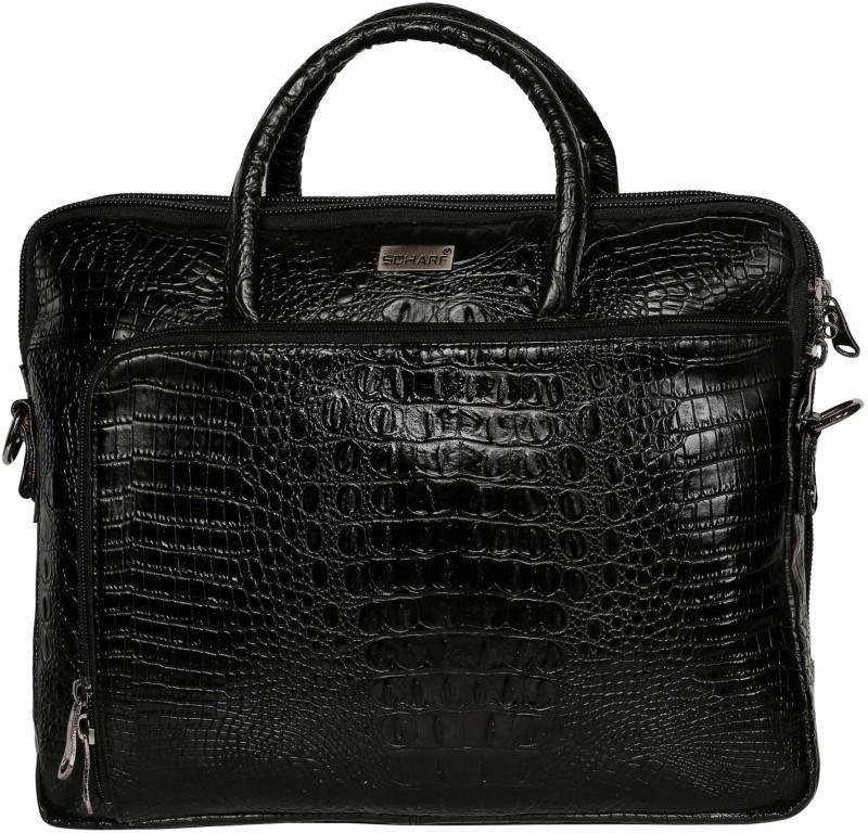 SCHARF Casa Grace - Eyes on Him 15.6 Laptop - Macbook Shoulder Messenger Bag Medium Briefcase - For Men(Black)