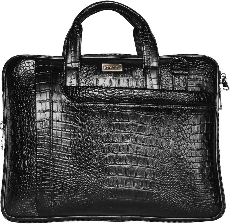 SCHARF Robin Taylor - Sleeve a Message 15.6 Laptop - Macbook Shoulder Messenger Bag Medium Briefcase - For Men(Black)