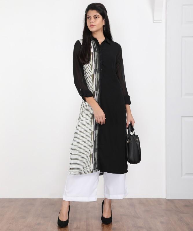 Biba Womens A-line Black Dress
