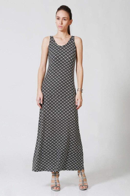 Allen Solly Womens A-line Black Dress
