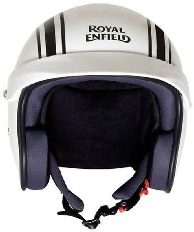 Royal Enfield OF RVP Stripe Motorbike Helmet(Gloss White)