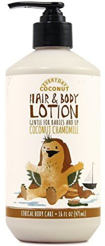 Alaffia Everyday Coconut Hair And Body Lotion, Gentle For Babies And Up, Moisturizing Support For Soft, Smooth Hair And Skin With Yarrow And Chamomile, Fair Trade, Coconut Chamomile, 16 Ounces(473.18 ml)
