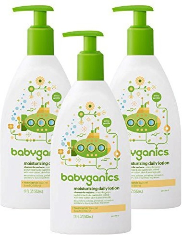 Babyganics Daily Lotion Chamomile Verbena, 17 Ounce, 3 Pack(502.75 ml)