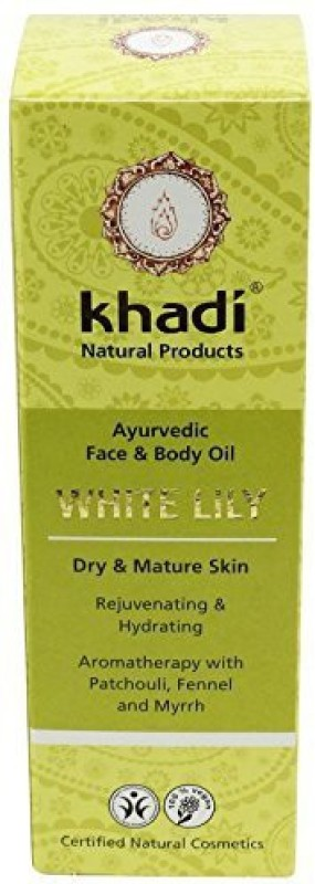 Yumi Bio Shop Khadi - Face And Body Oil - White Lily - 3.5 Fl.Oz - Excellent For Dry & Mature Skin - Increases Skin�S Elasticity - Supports Skin Regeneration(103.51 ml)