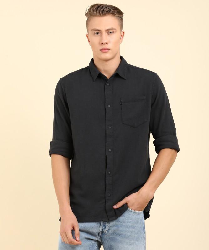 Levis Mens Solid Casual Shirt
