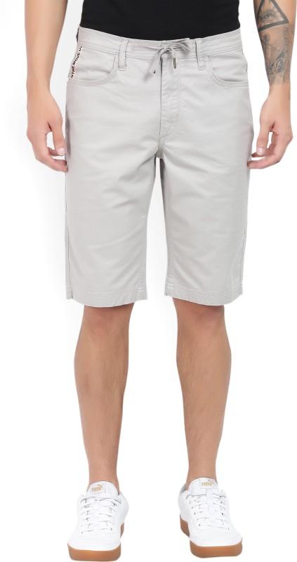 Lee Solid Mens Grey Chino Shorts