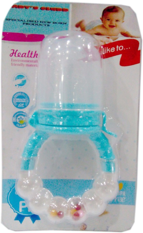 Baby's Clubb Fruit Nibbler Cum Rattle Teether(White, Blue)