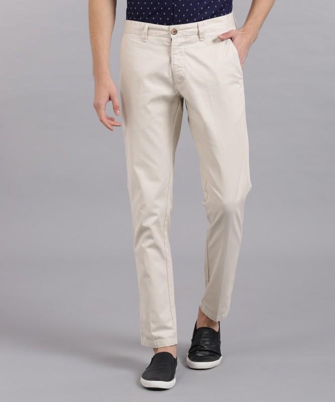 LP Louis Philippe Regular Fit Mens Cream Trousers
