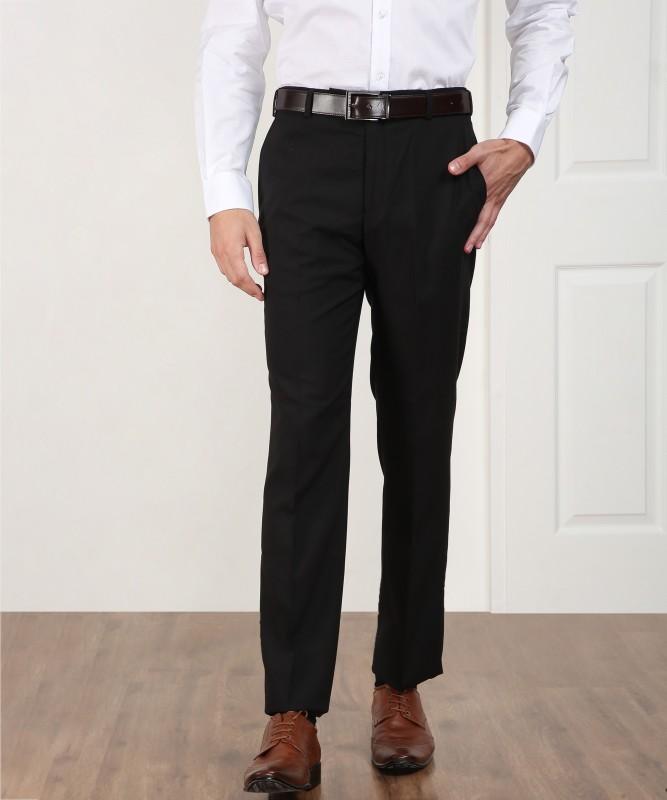 Park Avenue jacov Regular Fit Mens Black Trousers