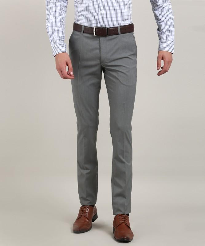 Indigo Nation Jakov Slim Fit Men Grey Trousers
