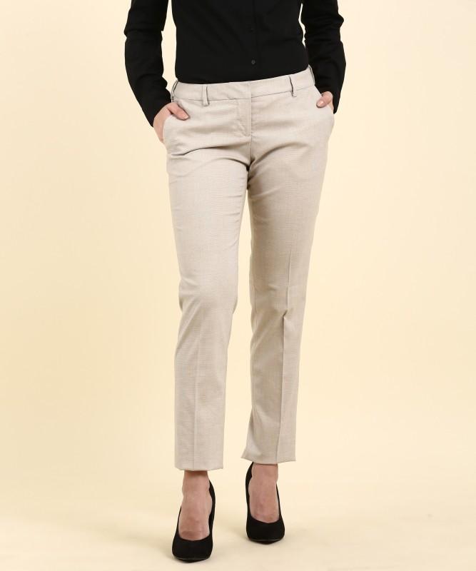 Arrow mariaa Regular Fit Womens Beige Trousers