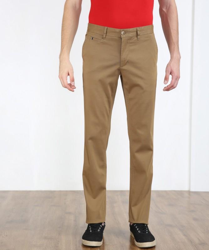 LP Louis Philippe JACOB Slim Fit Men Beige Trousers