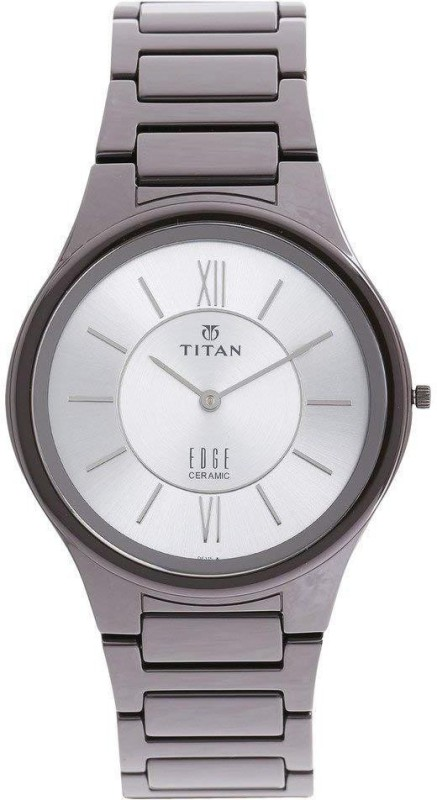 Titan 1696QC02 Slimmest Ceramic Watch by Edge Analog Watch - For Men