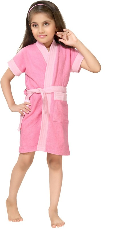 Be You Baby Pink XXS Bath Robe(1 bathrobe with belt, For: Girls, Baby Pink)