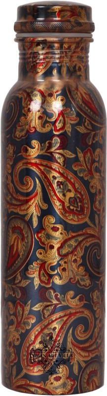 IndianArtVilla Copper Water Bottle,Printed Paisley Design 1000 ml Bottle(Pack of 1, Multicolor)