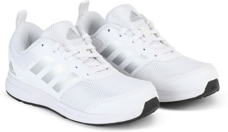 ADIDAS Boys Lace Running Shoes(White)