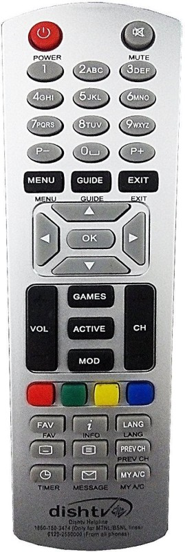 VBEST DTH 26 Remote Controller(Silver)