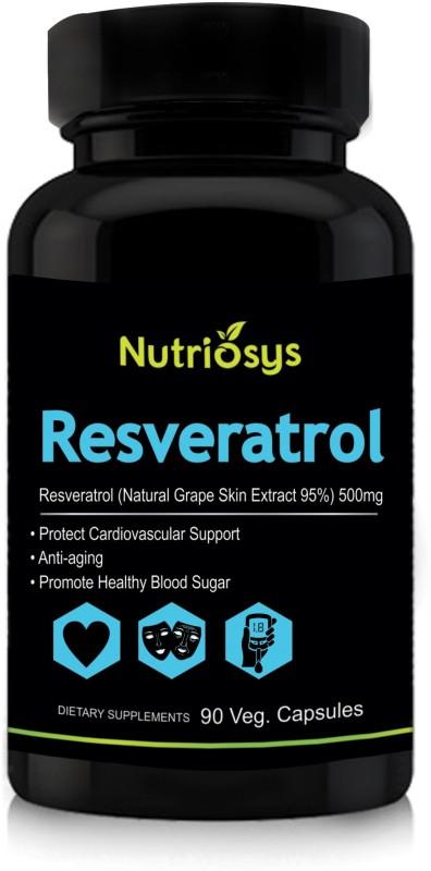 Nutriosys Resveratrol 500mg Veg Capsules 90 No Buy Online In