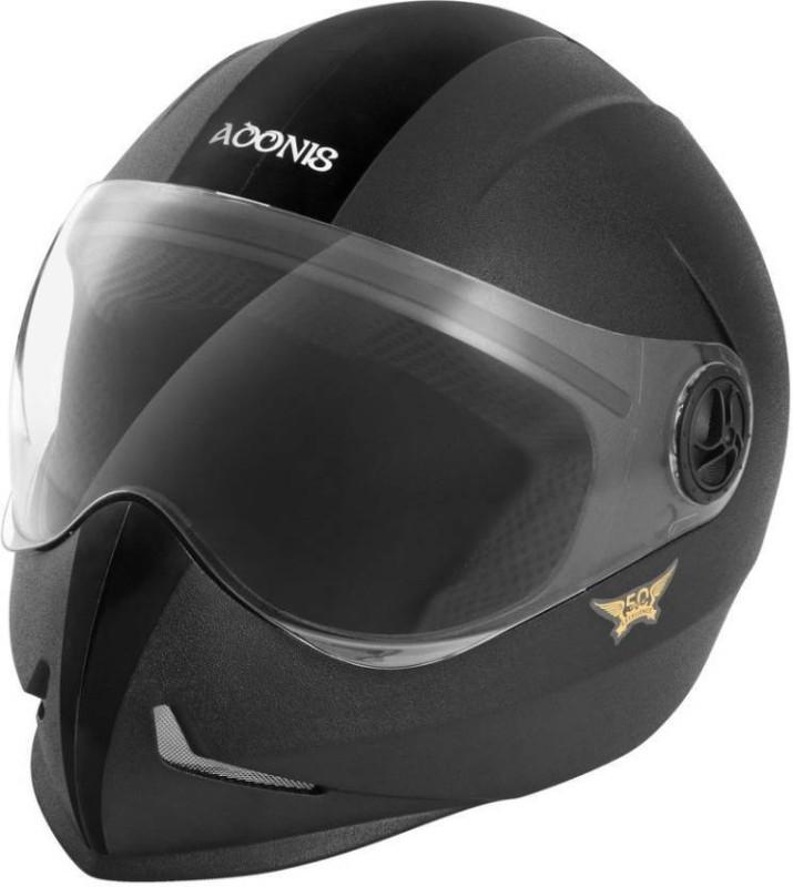Steelbird Adonis Dashing Motorbikes Helmets Motorbike Helmet(Black)