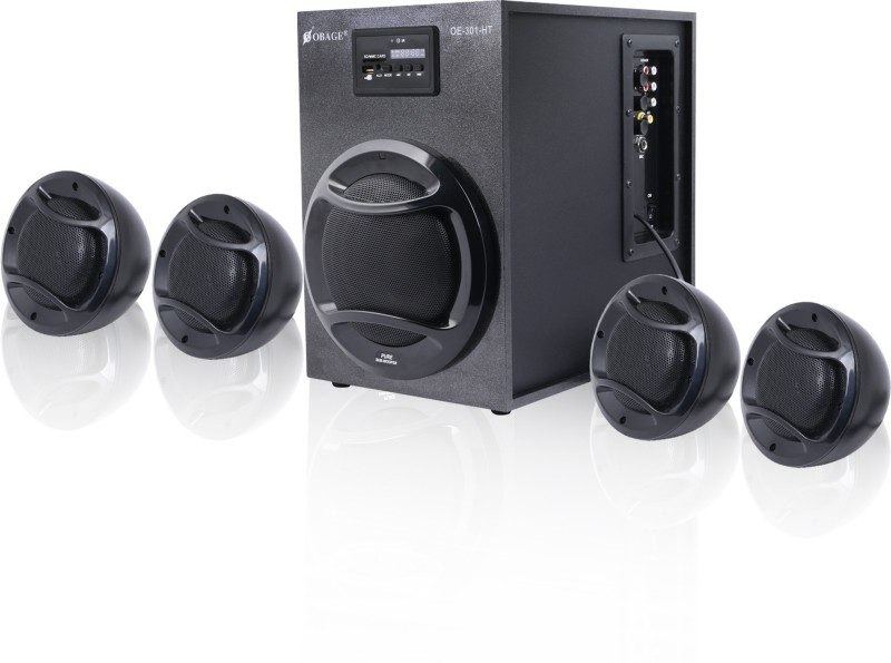 Obage 4.1 SPEAKER SYSTEM HT-301 4.1 Home Cinema(Bluetooth, USB, FM, AUX)