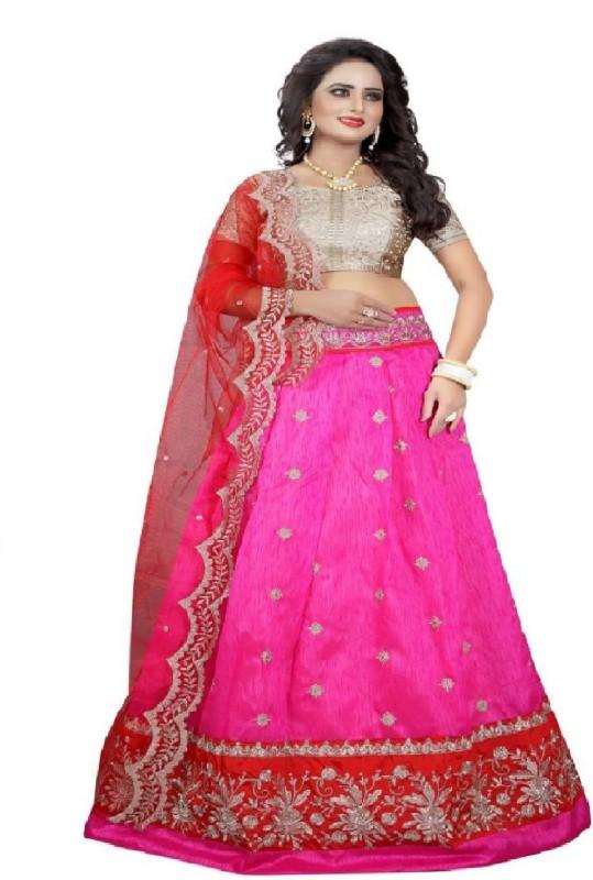 nivy Embroidered Lehenga Choli(Pink)