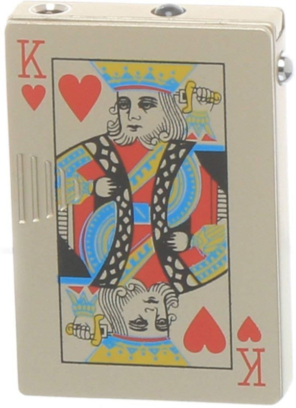 Pia International KING-001 POKER - KING WITH UV LIGHTER Pocket Lighter(BADSHAH)