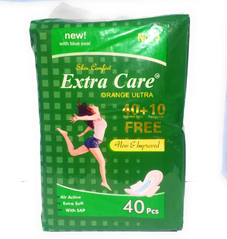 Extra Care Orange Ultra Sanitary Pad(Pack of 40)