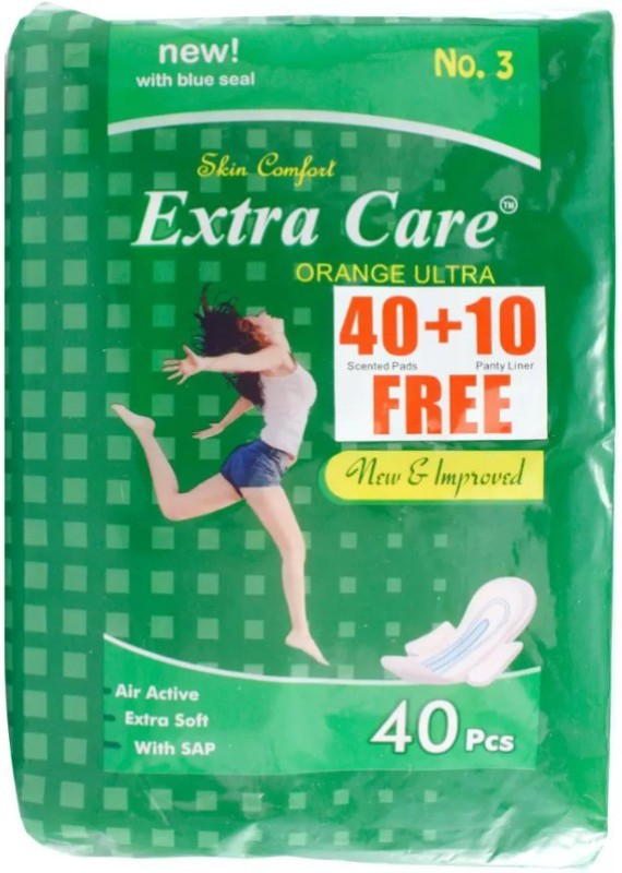 Extra Care Orange Ultra pack of 2 Sanitary Pad(Pack of 40)
