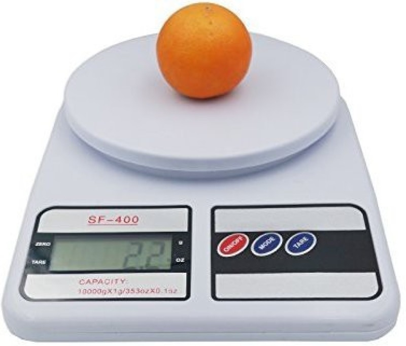 DONDA Digital Electronic Kitchen Weighing Scale (1 gm to 10 Kg) Weighing Scale(White)