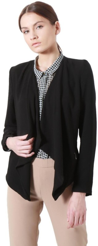 Allen Solly Solid Single Breasted Casual Womens Blazer(Black)