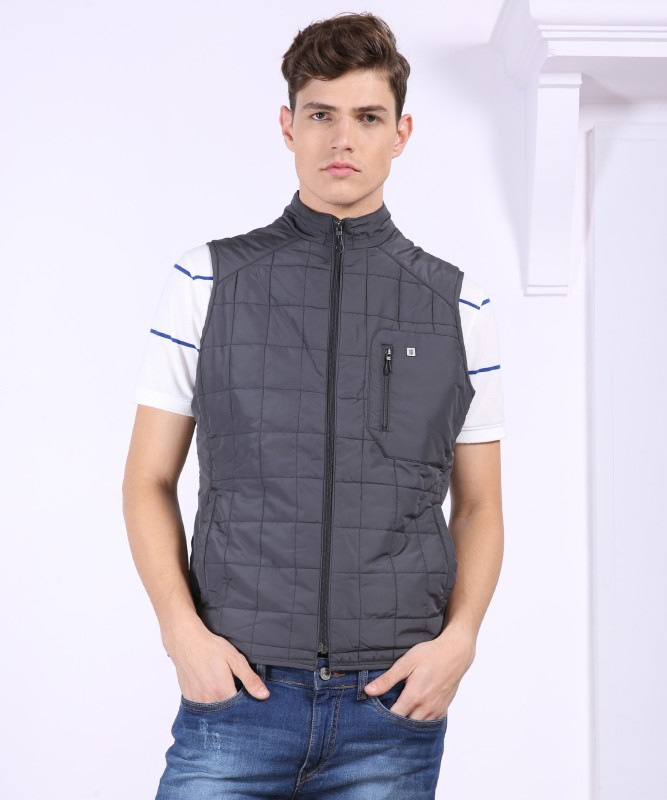 Louis Philippe Sleeveless Solid Mens Jacket